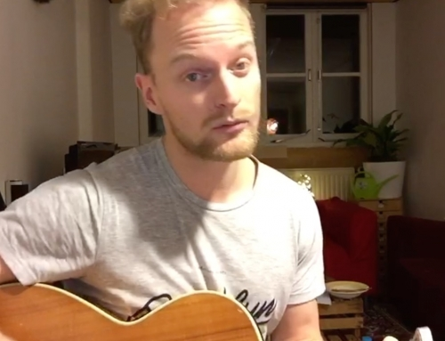 Mooi! Wieger Troostheide schreef een song over het webinar 'Progressiegericht Ondernemen'